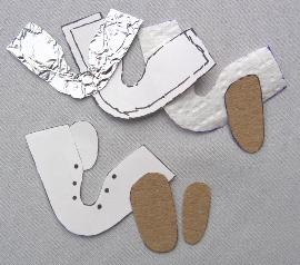 Making Doll Shoe Soles Using Copper Sheet and Leather